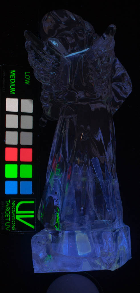 UV-vis, repaired glass