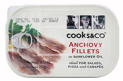 Anchovy Fillets. OUT OF STOCK