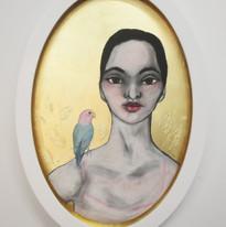 Woman and Love Bird