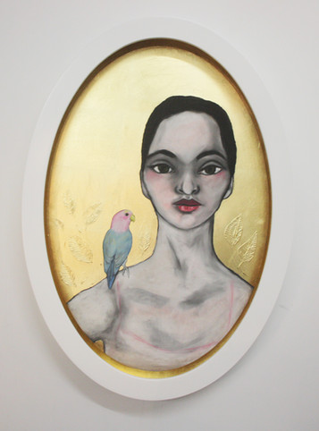 Oval Woman with Love Bird