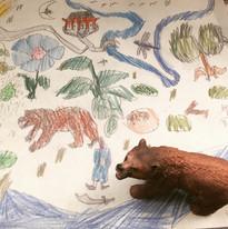 Amazing bear drawing