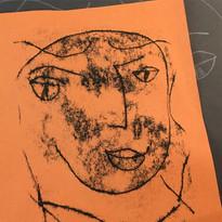 Mono print after Matisse