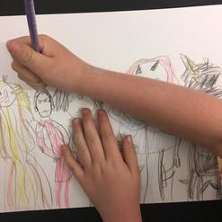 Super hero drawing