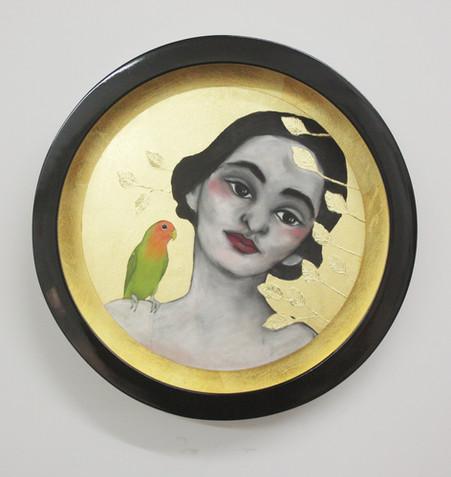 Woman with Love Bird