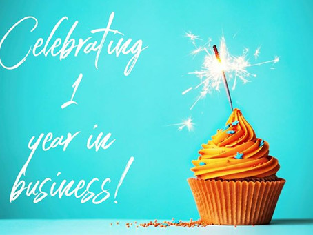 Celebrating 1 Year in Business