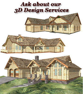 3D Log Home Design Services