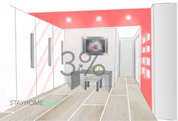 Homstaging var et 3%nduit décoratif salle de bain