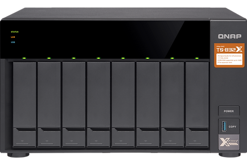 QNAP TS-832X-2G NAS 8BAIE AL-324 1.7GHZ QC 2.5/3.5 2GB