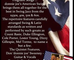 Usk Jazz Weekend presents donnie joe's American Swing