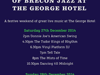 The George Hotel, Brecon Celebrates 30 years of Brecon Jazz with donnie joe's American Swing