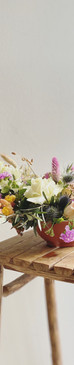 Composition florale bohème