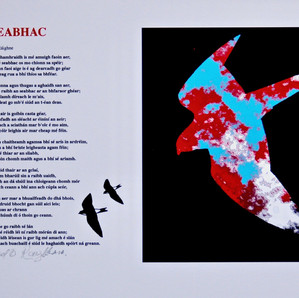 An Seabhac (The Hawk) poem in Irish- Padraic Reaney