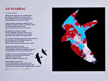 An Seabhac (The Hawk) poem in Irish- Padraic Reaney