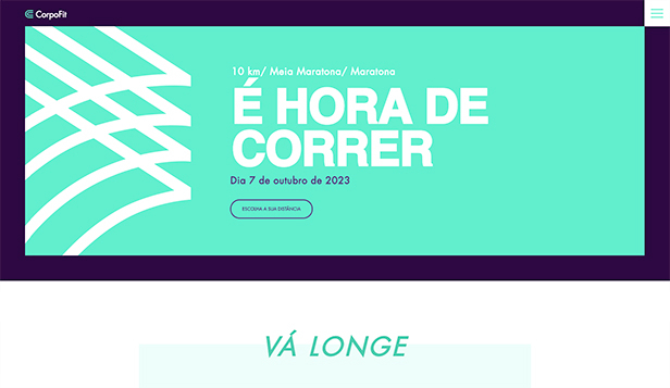 Eventos website templates – Maratona