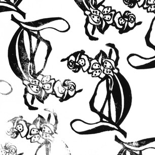 Orchid Stamped Pattern