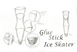 Glue Stick Ice Skater