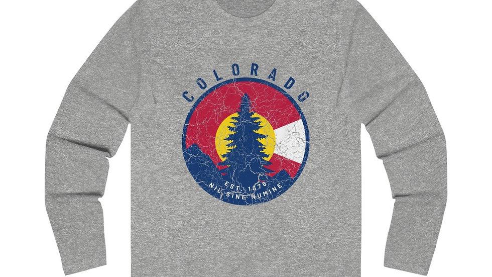 Colorado Crest Long Sleeve Crew Tee