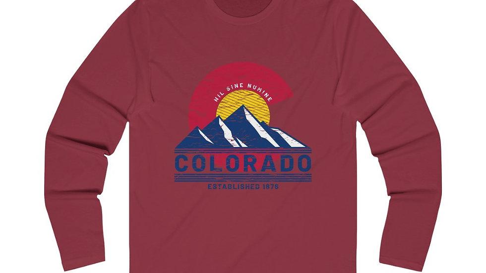 Colorado Mountains Long Sleeve Crew Tee