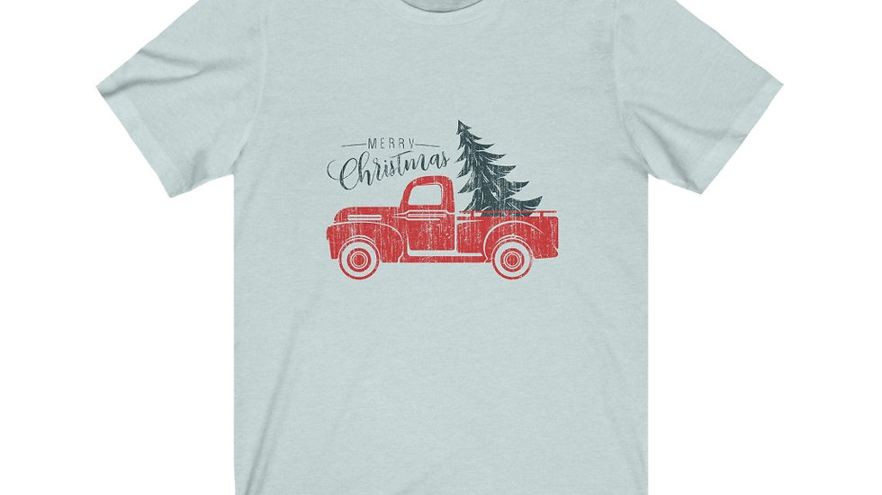 Merry Christmas Truck Short Sleeve Tee