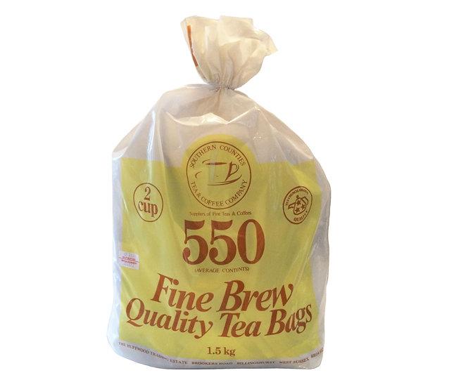 Fine Brew 550 Tea Bags (2 Cup)