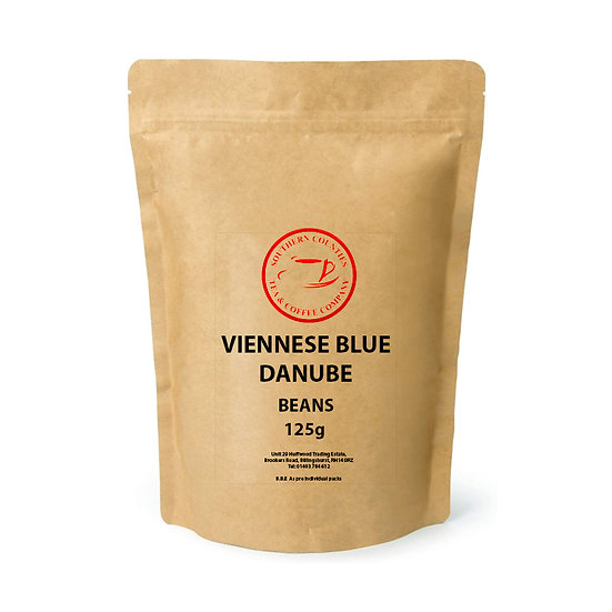 NEW Viennese Blue Danube Coffee 125g BEANS