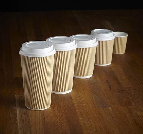 Kraft Insulated Triple Layer Cups (500) 12oz