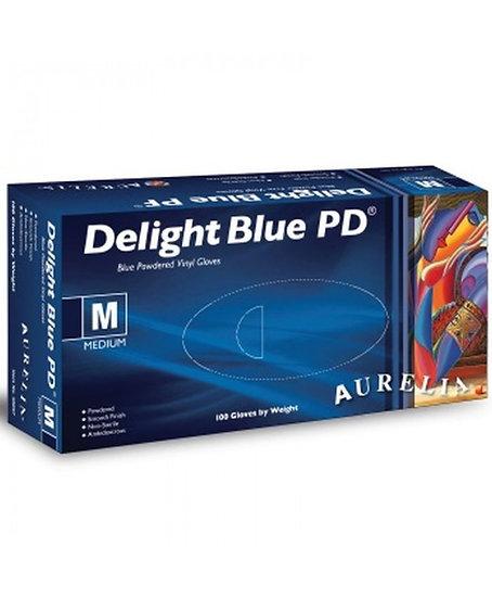 Delight Powder Free Vinyl Gloves - Blue - Various Sizes