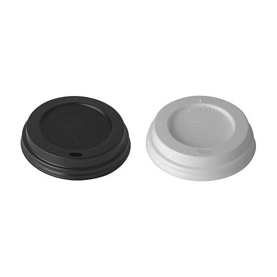 Domed Sip-Thru Lids in White (1,000) Fits 8oz