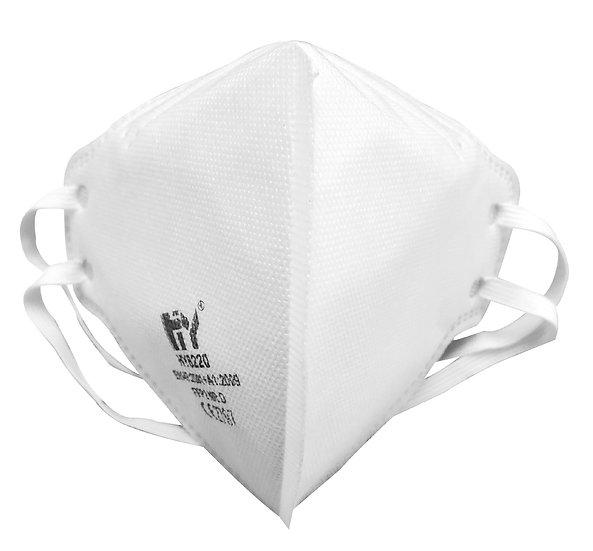 Un-valved FFP2 fold flat medical mask