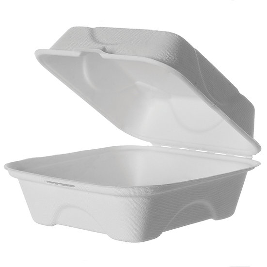 "Bagasse Food To Go 6"" Small Clamshell (500)"