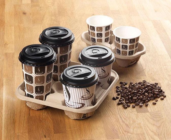Mould Pulp Fibre Carry Tray (2 Cup) (360 Units)