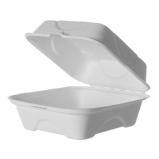 "Bagasse Food To Go 7"" Small Clamshell (400)"