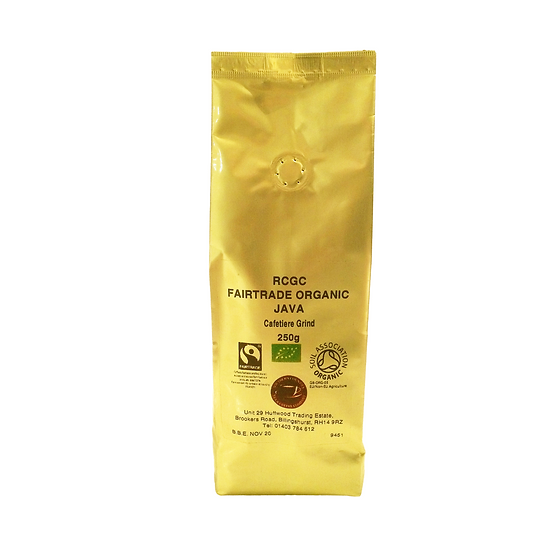 Fairtrade Organic Java - Cafetiere Grind 250g
