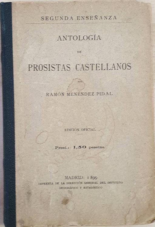 Antología de prosistas castellanos | Menéndez Pidal, Ramón