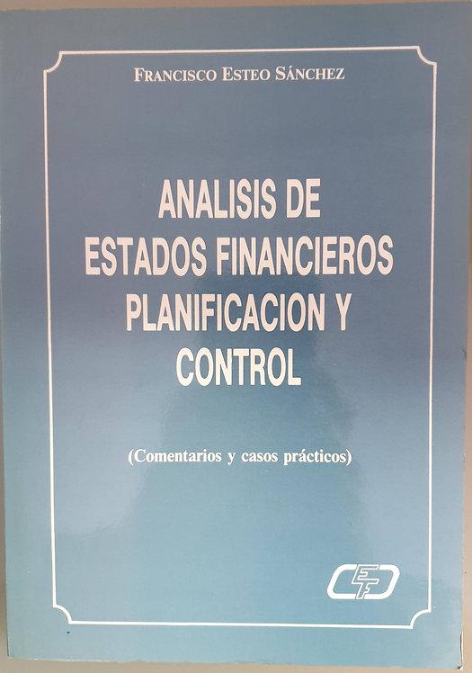 Análisis de estados financieros. Planificación y control | Esteo Sánchez, Franc