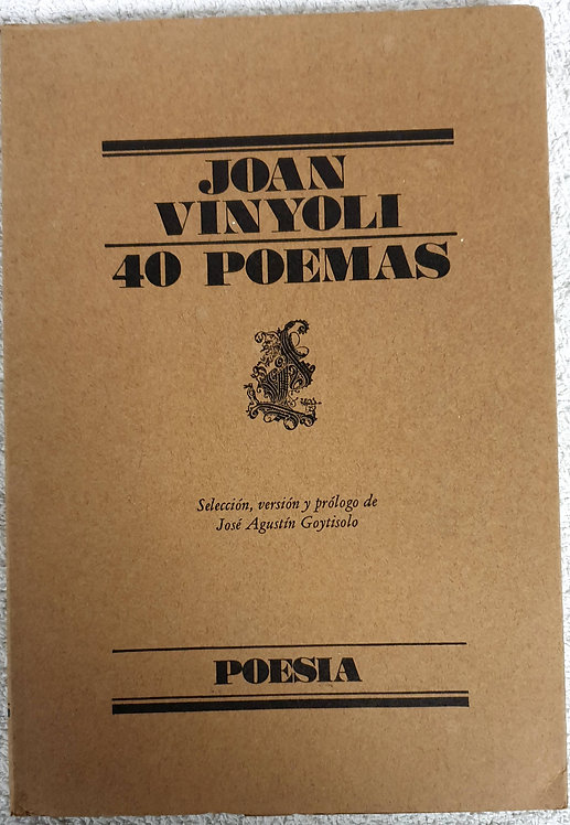 40 Poemas   Vinyoli, Joan