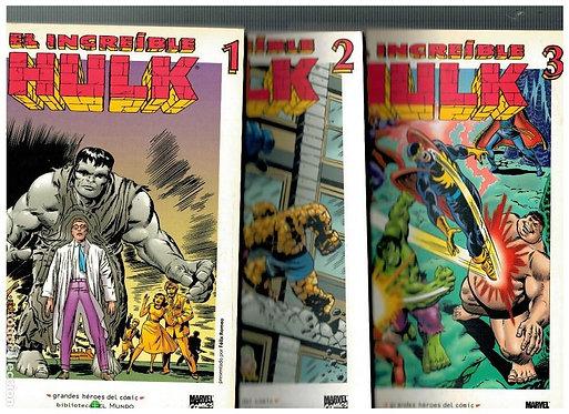 El increíble Hulk 1, 2 y 3 (Colección El Mundo) | Grandes héroes del cómic
