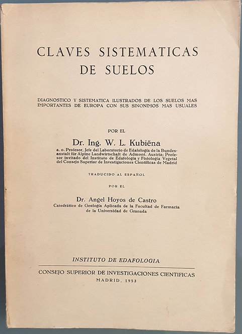 Claves sistemáticas de suelos | Kubiëna, W. L.