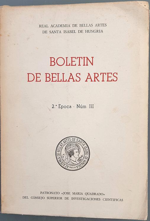Boletín de Bellas Artes. 2ª Época - Núm. III