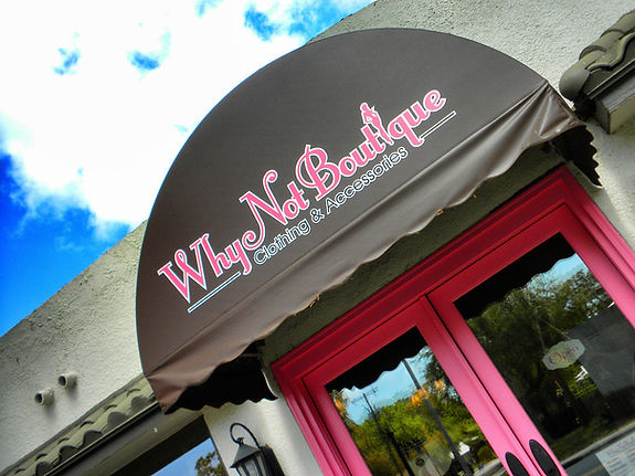 Why Not Boutique facing Bay to Bay Blvd in South Tampa, Florida
