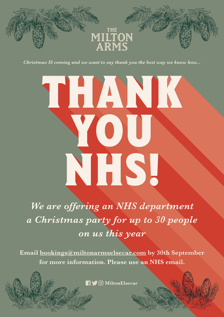 Thank you NHS from the Milton Arms