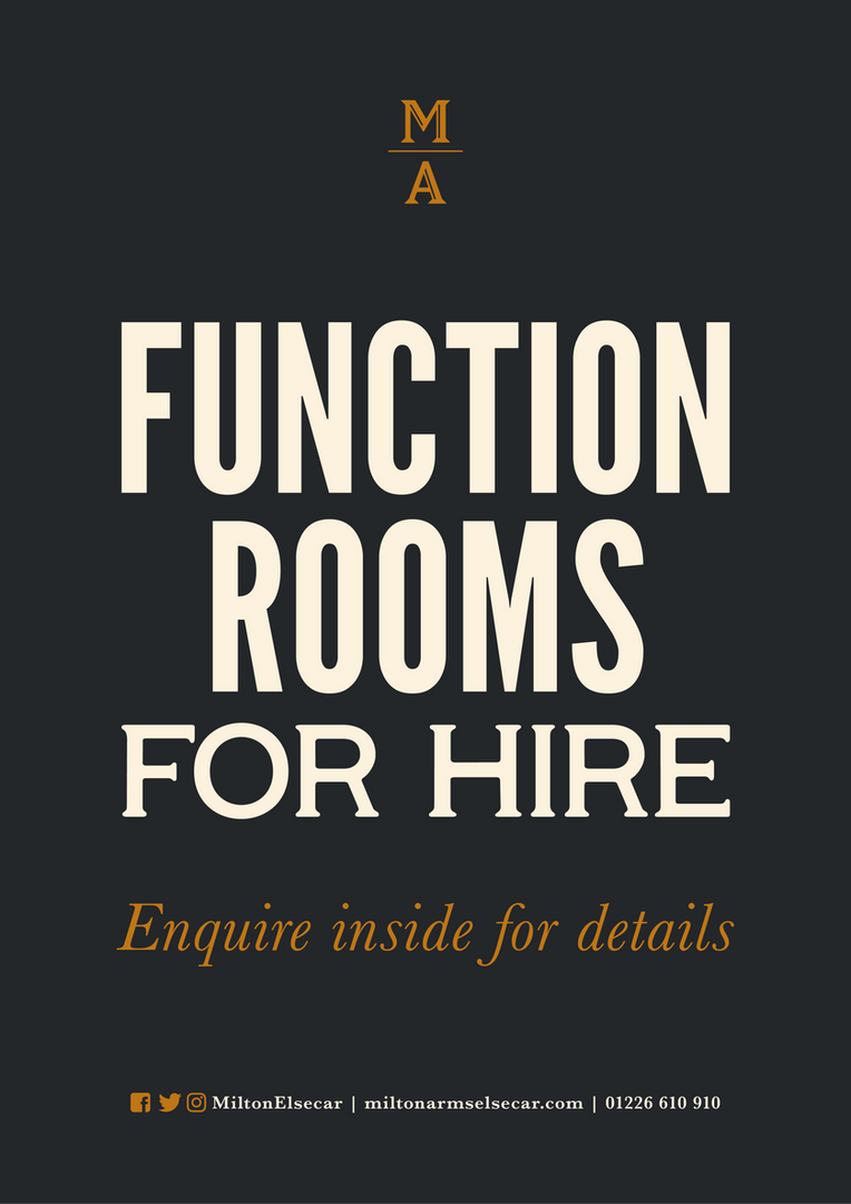 Function Rooms for Hire | Barnsley | The Milton Arms Elsecar