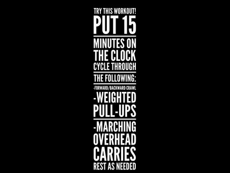 Try this workout: Crawl, Pull, Carry