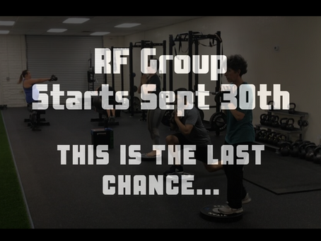 Don't miss out! This is the last chance for RF Group enrollment (September 30th start)