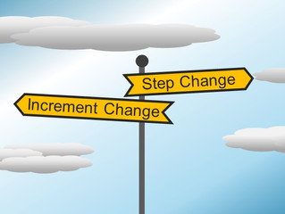 Large Step Vs Increment Change