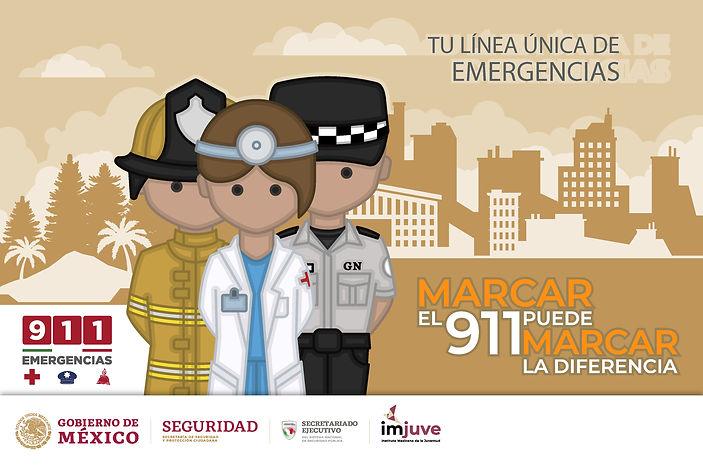 Tú línea única de emergencias es el 911