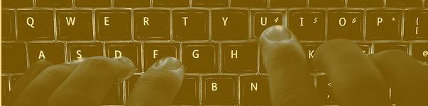 imagen de manos escribiendo en el teclado de una computadora