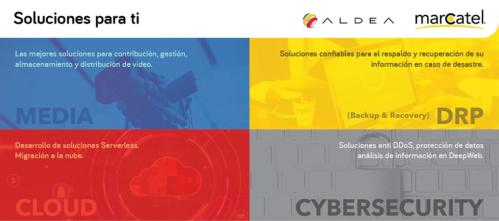 Servicios: Media, DRP, Cloud, Cybersecurity