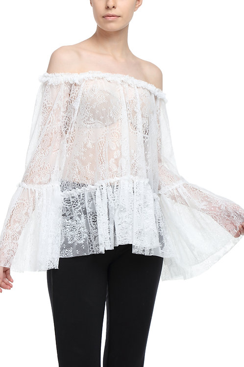 Lace Butterfly Top