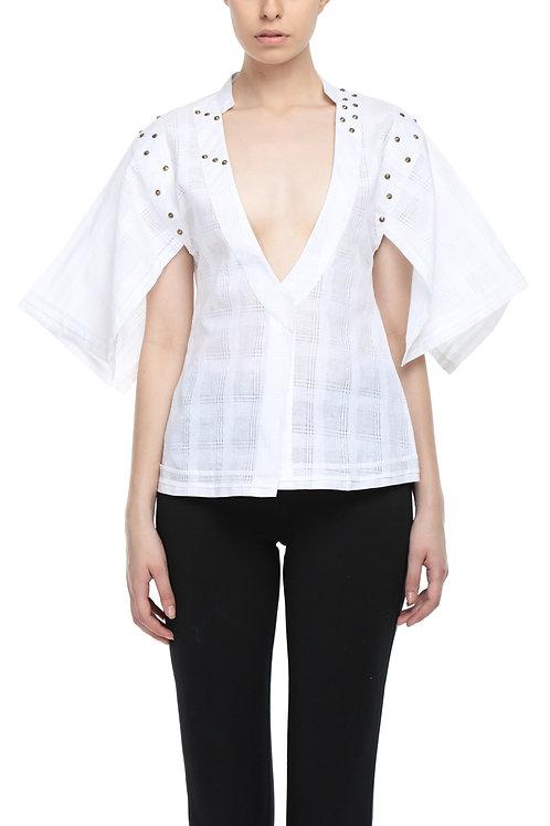 Kimono Sleeved Studded Top